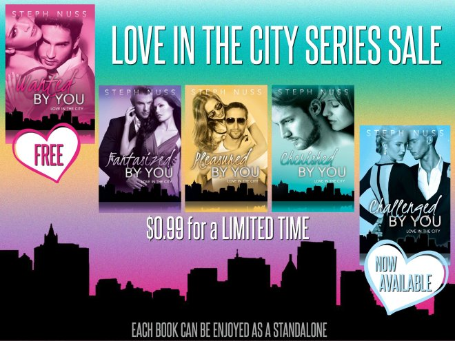 Sales Ad for the Love in the City Series by Steph Nuss