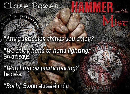 Teaser quote from Hammer and the Mist, by Clare Power
