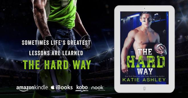 Teaser photo ad for The Hard Way by Katie Ashley