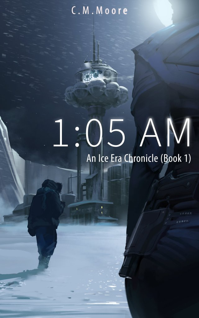 Book Cover, 1:05 AM by C. M. Moore