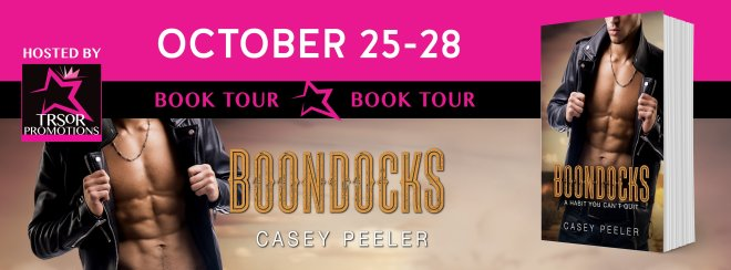 Book Tour Banner for Boondocks by Casey Peeler