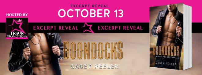 Excerpt Reveal Banner for Boondocks, by Casey Peeler
