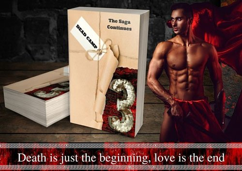 "Promotional Banner for Dead Camp Book 3, ""Death is just the beginning, love is the end."""