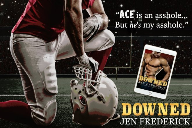 A photo teaser featuring the e-cover of DOWNED, by Jen Frederick