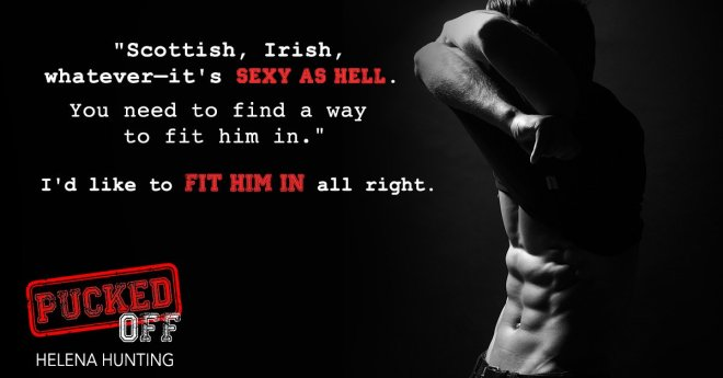 Teaser photo and quote from Pucked Off by Helena Hunting