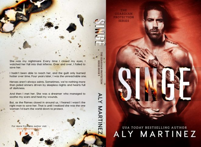 Full cover, Singe, by Aly Martinez