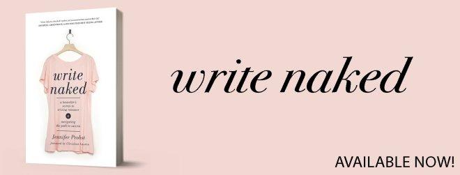 tour banner for Write Naked, by Jennifer Probst