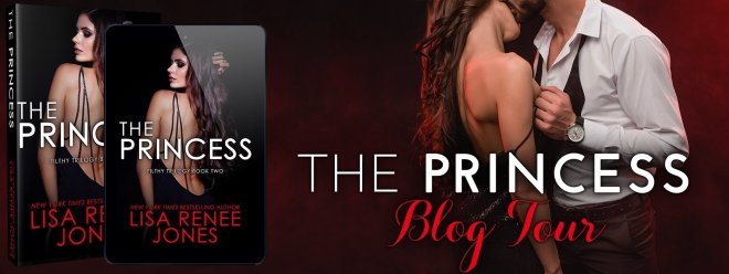 Blog tour banner for The Princess by Lisa Renee Jones