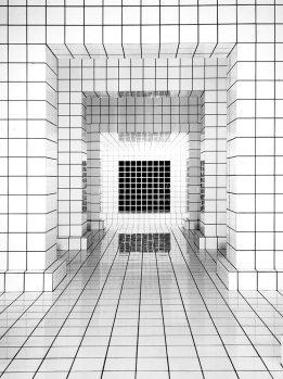 Jean Pierre Raynaud, Maison de la Celle-Saint Cloud, détail de l'un des pièces. ©Archives Denyse Durand Ruel.