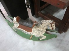 Of course I loved this little rocking horse. Such a practical, sturdy design and painted my favorite dapple gray!