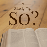 Study Tip: So?