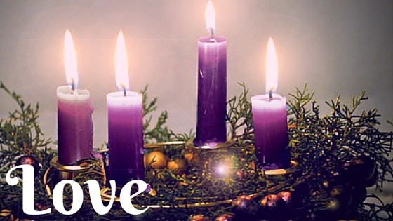Advent love title graphic