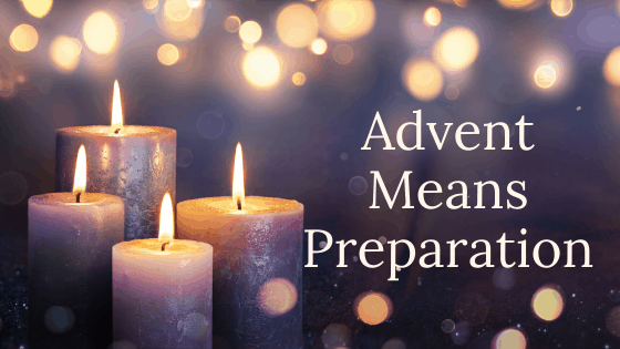 advent means preparation title graphic