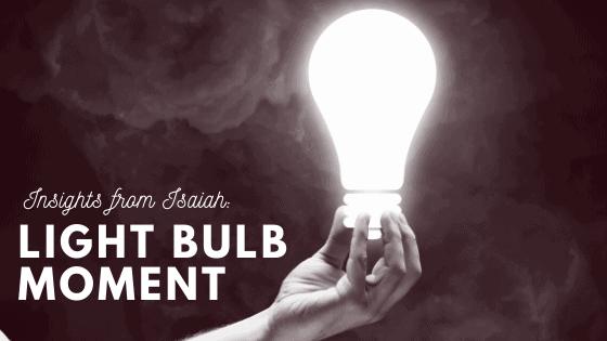 Light Bulb Moment title graphic