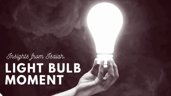 Light Bulb Moment title graphic