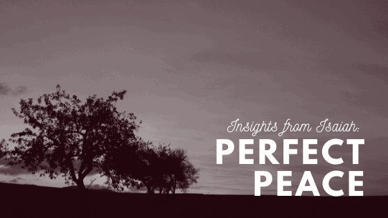 Perfect Peace title graphic
