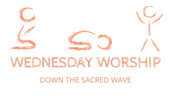 sacred wave wednesday worship title block