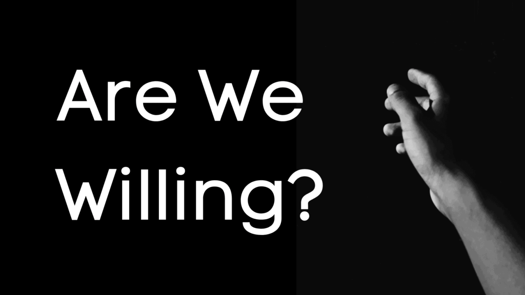 Are we willing title graphic
