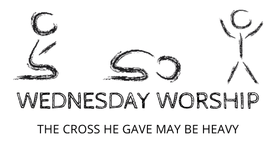 The Cross He Gave May Be Heavy title graphic