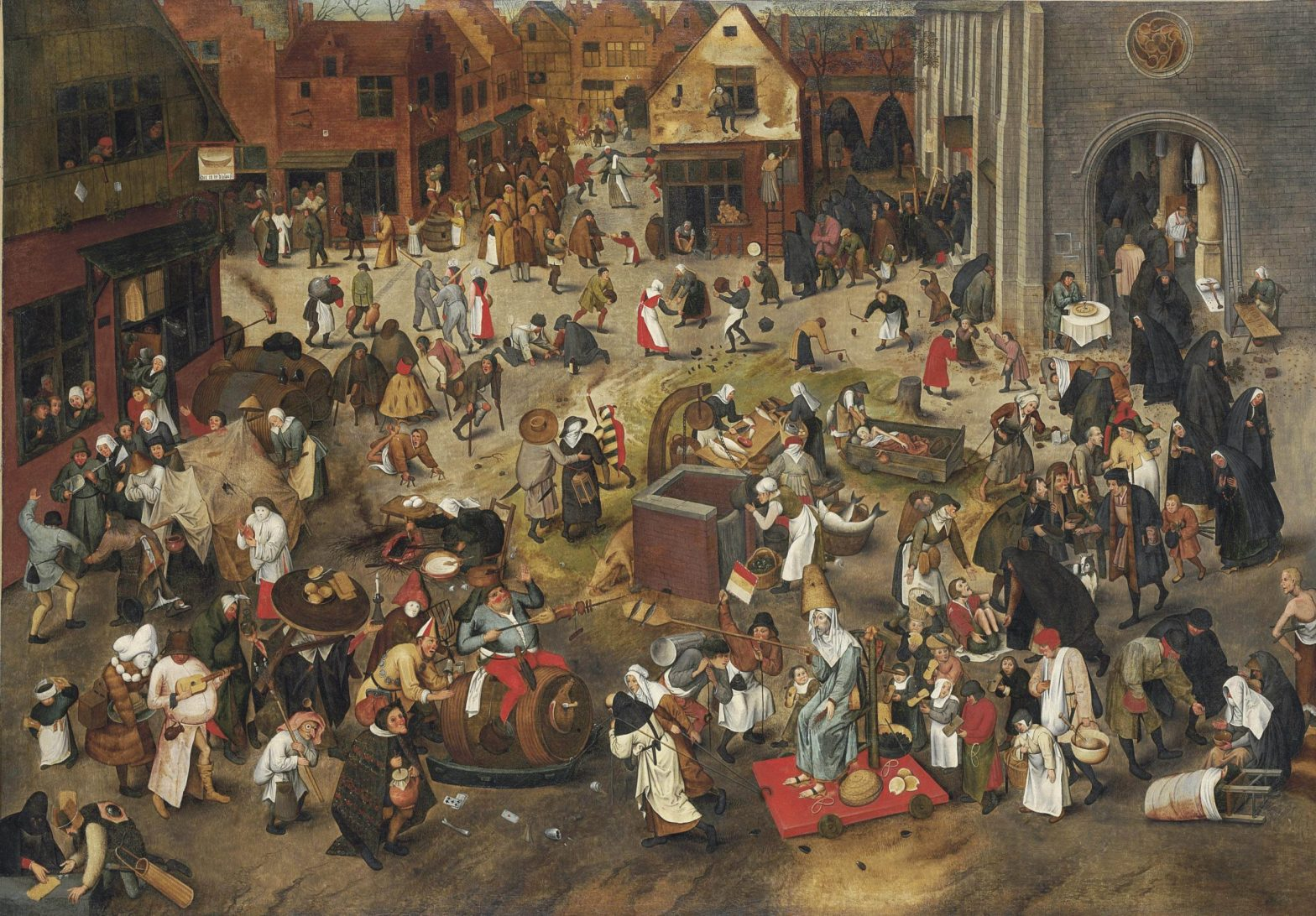 "Copy of ""The Fight between Carnival and Lent"" by Pieter Brueghel the Young"