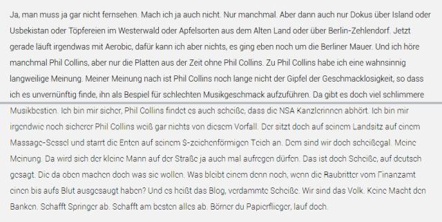 Schriftrendering von Firefox (oberhalb der Linie) und Chrome (unterhalb der Linie) unter Windows