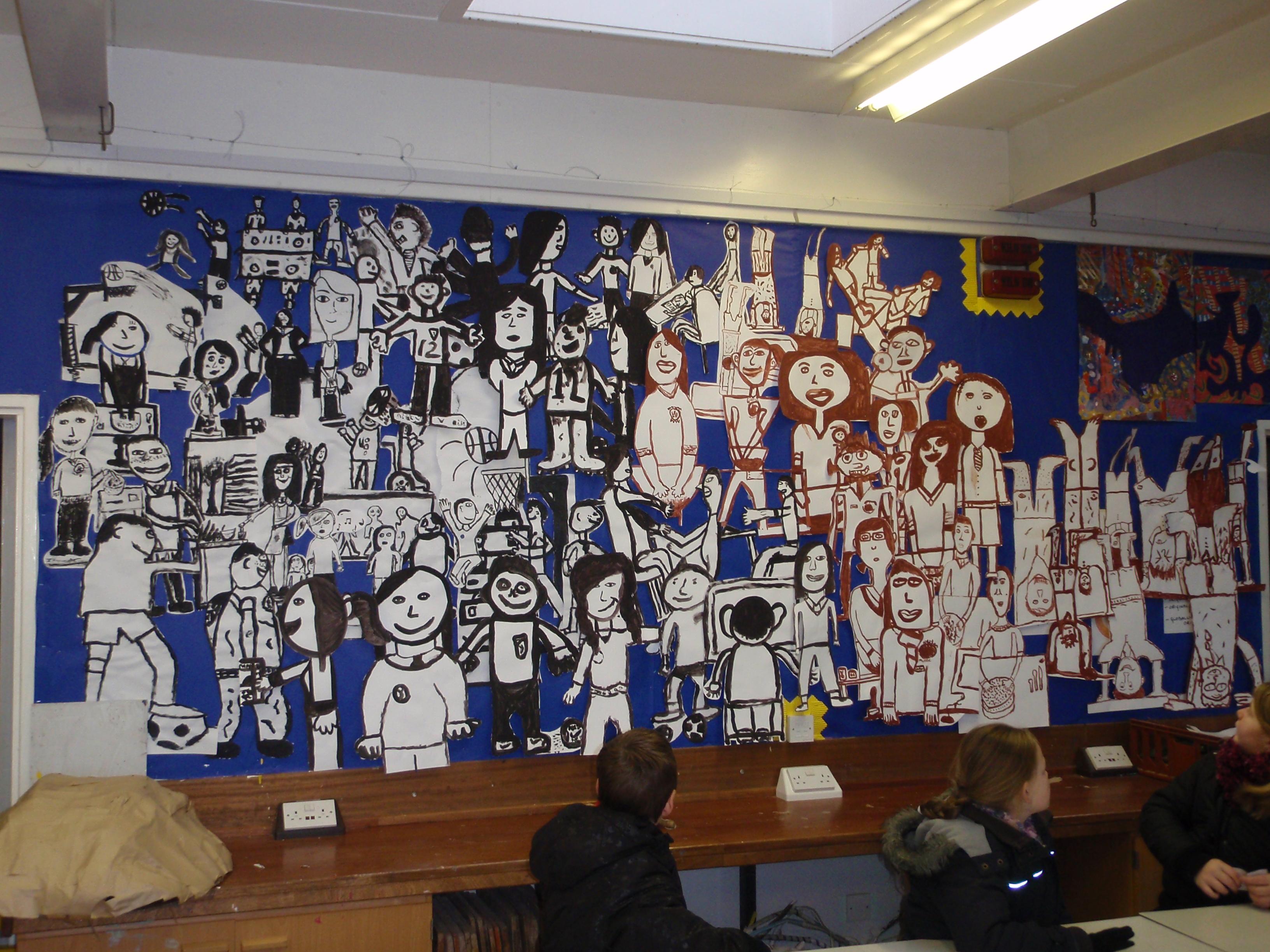 Temporary mural at GMS