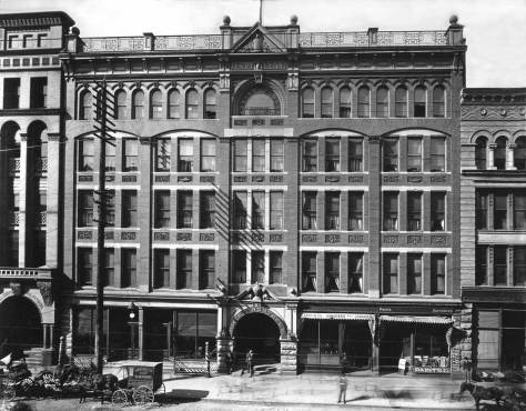 THEN: The Terry-Denny Building, better known in its earlier years as Hotel Northern, was part of the grand new Pioneer Place (or Square) neighborhood built up in the early 1890s after the old one was reduced to ashes by Seattle's Great Fire of 1889.