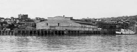 """THEN: Pier 70 when it was still Pier 14, ca. 1901, brand new but not yet """"polished.""""  Courtesy, Lawton Gowey"""