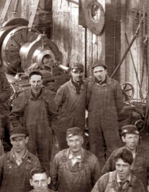Rich Berner's father, top-center: machinist on the Seattle waterfront.