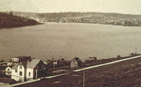 "The ""North End"" from the west slope of Capitol Hill looking northwest across Lake Union, ca. 1895."