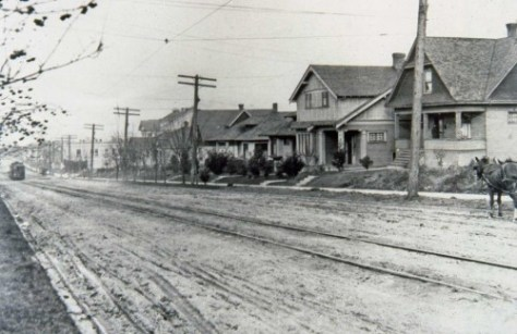 Looking north on 7th West from Crocket ca. 1911.