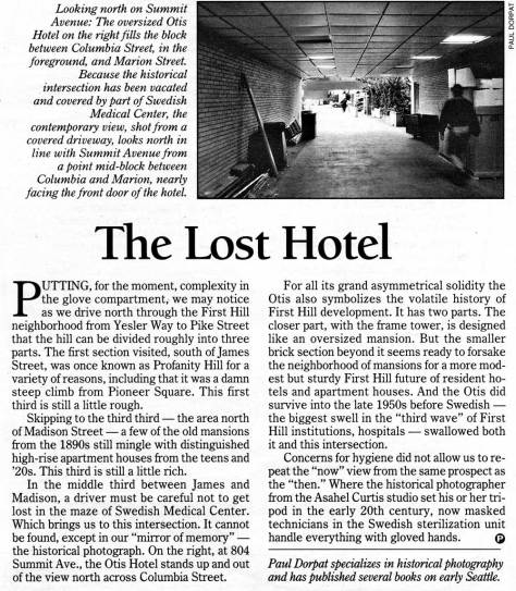 """Part of the now-and-then feature from Pacific, March 28, 2001.  For a """"then"""" it used the photo printed above the map above."""