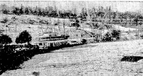 The converted Ferry Ballard, aka the Golden Anchor, parked on the Duwamish as home for the West Settle Athletic Club in 1950.