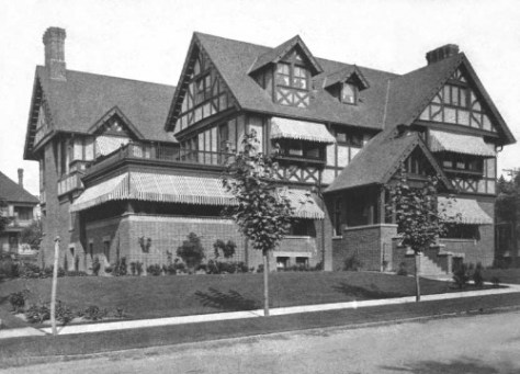 The Stimson-Green mansion at the northeast corner of Minor and Seneca.