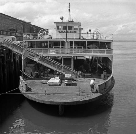 Frank Shaw's record of the Vashon on the waterfront, May 6, 1985.