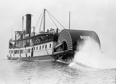 The sternwheeler Vashon somewhere on Puget Sound.  (Courtesy Jim Faber)