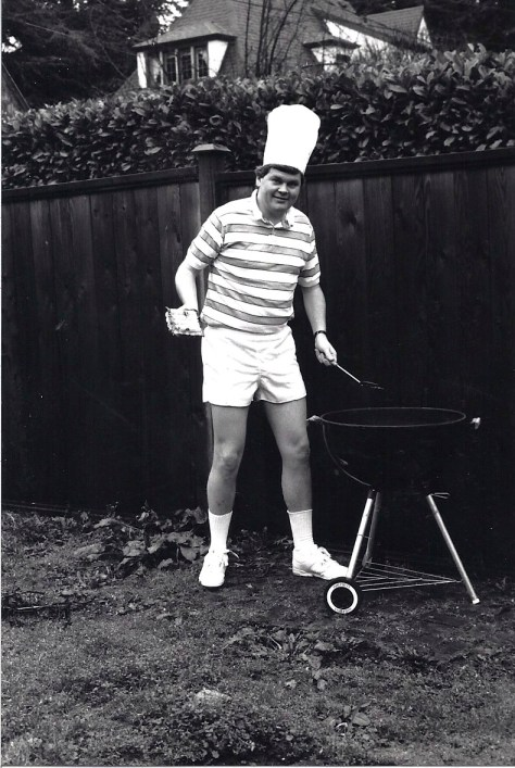 Greg Nickels hosts an early installment of one of his and Sharon's  many backyard barbecues. Photo by Sharon Nickels
