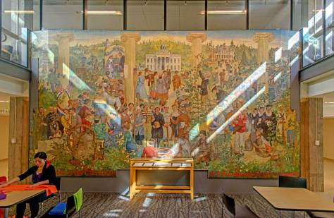 The UW mural now