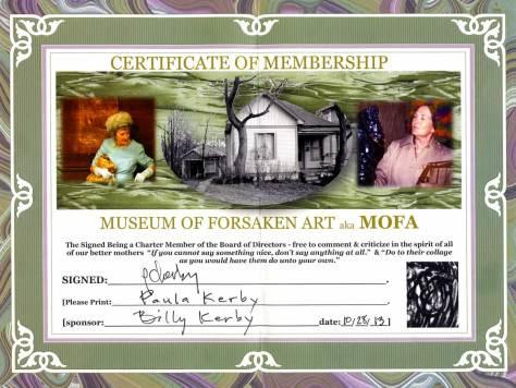 Paula Kerby's neglected membership card