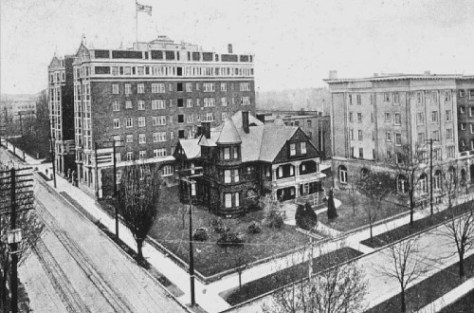 The Ranke mansion with the Perry Hotel behind it.