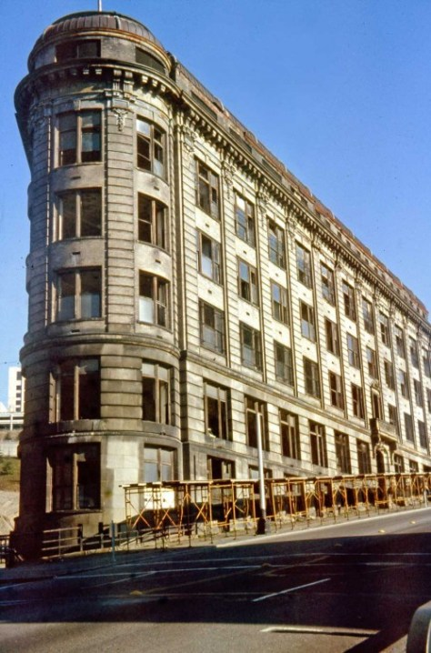On February 7, 1977 Lawton Gowey returned to the 400 Yesler Building to record the beginning of its restoration.