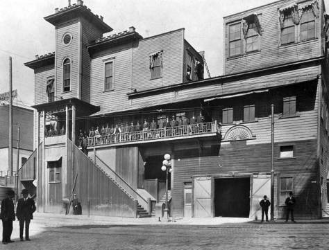 City Hall, aka the Katzenjammer Kastle, on 3rd at Jefferson, ca. 1905.
