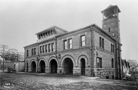 A. Wilse's late 1890s look southeast across Columbia Street.