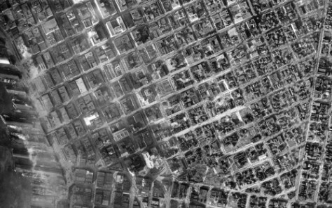 This, again, is a portion of the Municipal Archive's 1929 mapping aerial survey of the city and its environs.  Ron Edge both scanned and merged it.