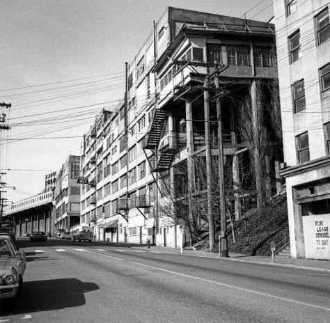 Looking north on Western Avenue and thru the old Pike Hill Climb before its big changes in 1976.