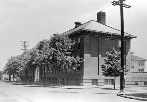 Latona School - the 1917 brick addition looking east on 42nd Street through 4th Avenue Northeast.