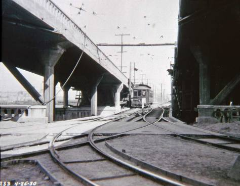 Below the same ramps (as those one image above) on April 26, 1930.