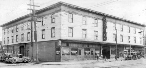 The Roslyn Hotel, 1930, southeast corner of 5th Ave. and Republican Street. (Courtesy, Seattle Times)
