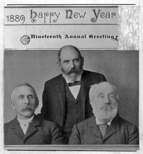 Right to left, Yesler, Gatzert and Maddocks, made a Christmas tradition out of carrying together greeting cards to their friends in town, and probably getting their fill of seasonal snaps in return.  Below is a portrait of a younger Henry - a Henry who looks fit for wrestling with Puget Sound's first steam saw mill.