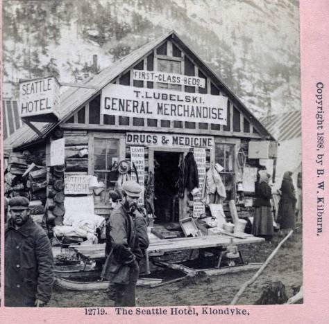 By comparison, Klondyke's Seattle Hotel in 1898.